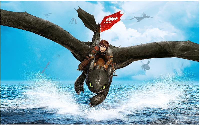 Flying Toothless