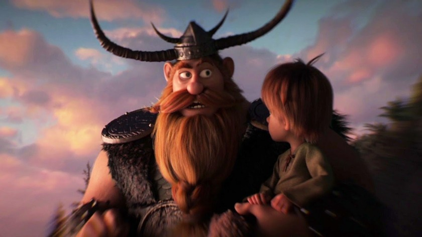 stoick and little hiccup