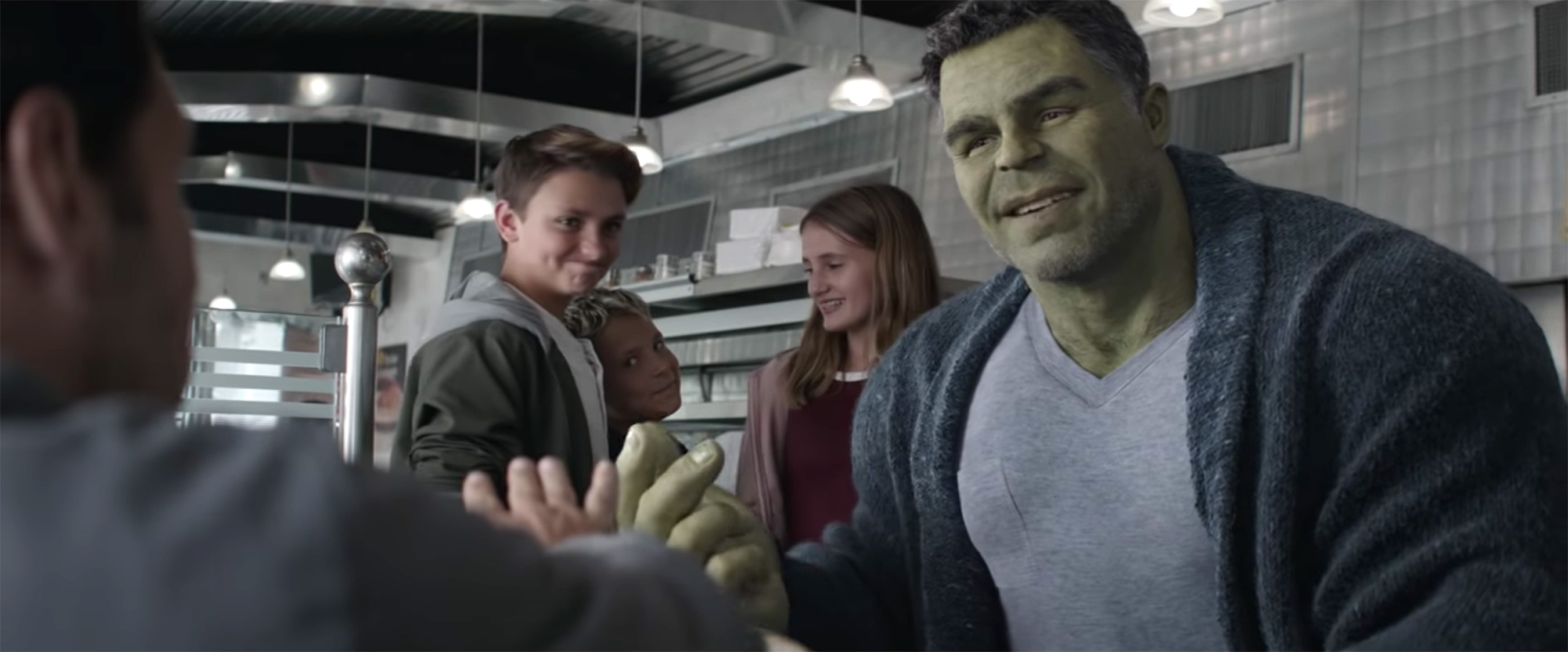 hulk at teh diner