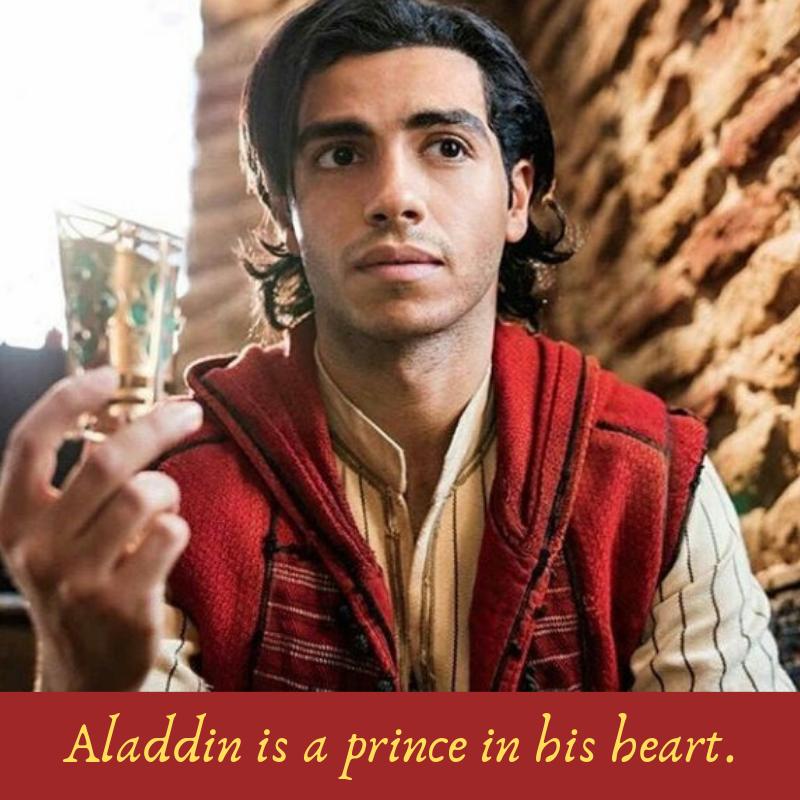 Aladdin is a prince
